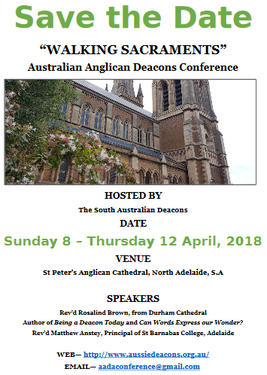 Australian Anglican Diaconal Conference on WALKING SACRAMENTS